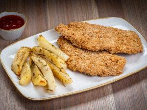Almond Chicken & Rosemary Baked Potatoes Union Jack Pub