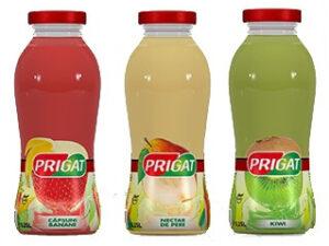 Prigat Nectar Pere/ Mix Căpșună-Banane/ Piersici/ Kiwi 250ml