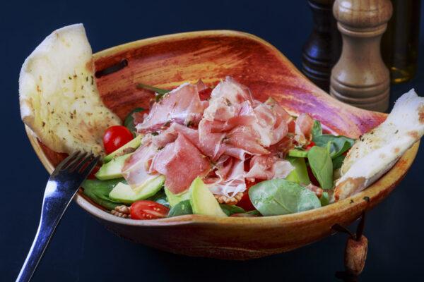 Avocado & Prosciutto Salad Union Jack Pub