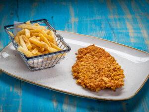 mini chicken nachos schnitzel