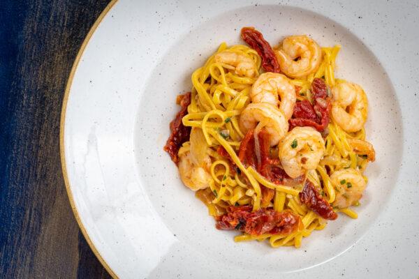 Tagliatelle with Shrimps & Prosecco